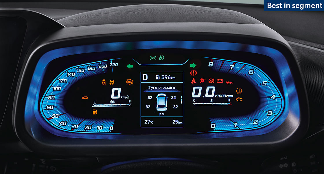 A fully digital instrument cluster on the i20