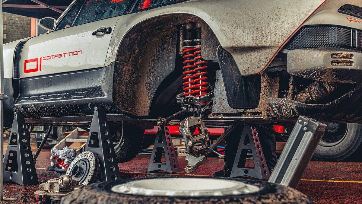 The long travel suspension is designed to take a beating, or two