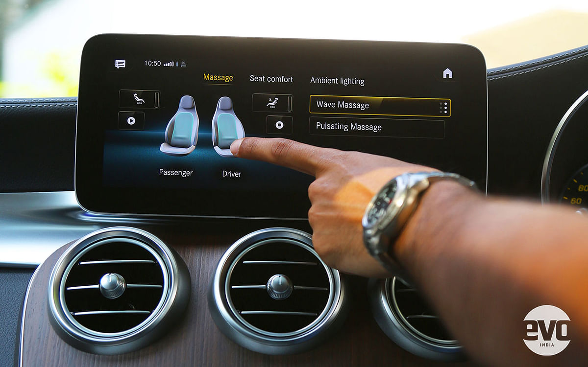 The massage function works via a set of inflatable air chambers in the seats
