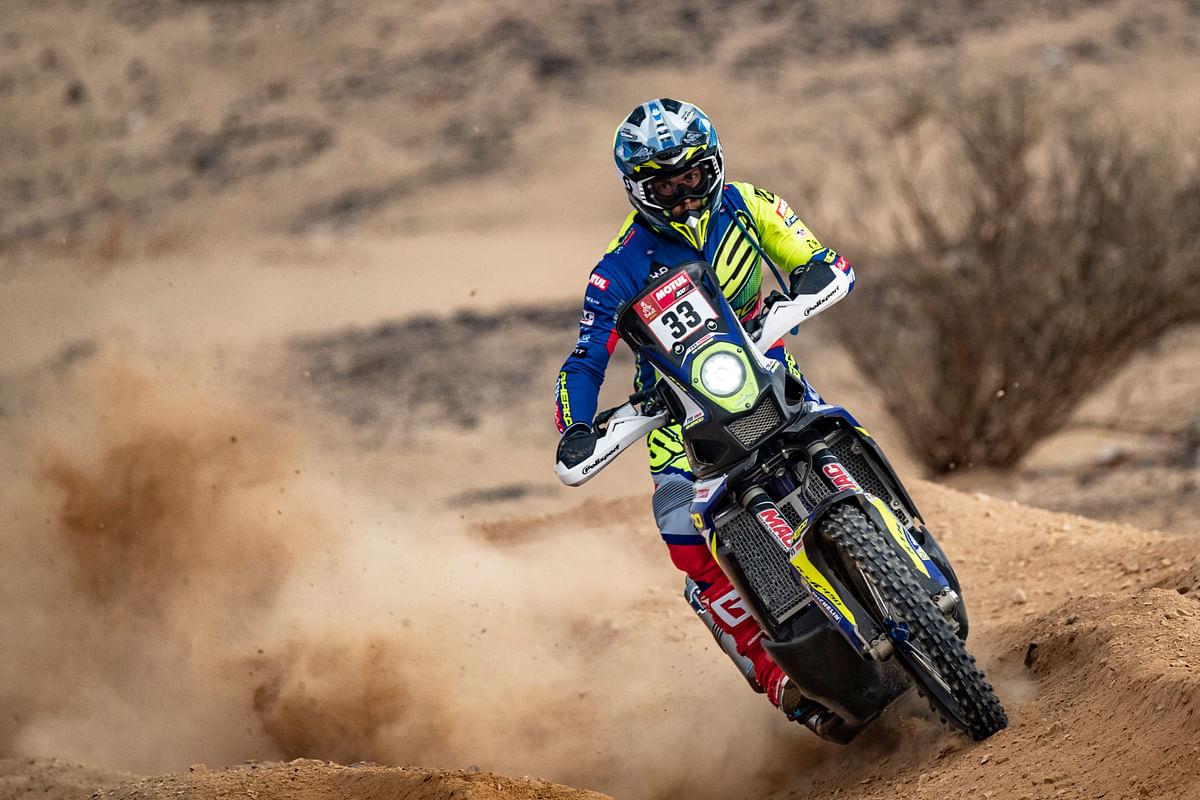 Ashish Raorane during stage 1 of the 2021 Dakar rally