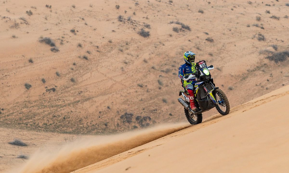 Harith Noah rose a spot in the difficult Stage 8 of the 2021 Dakar
