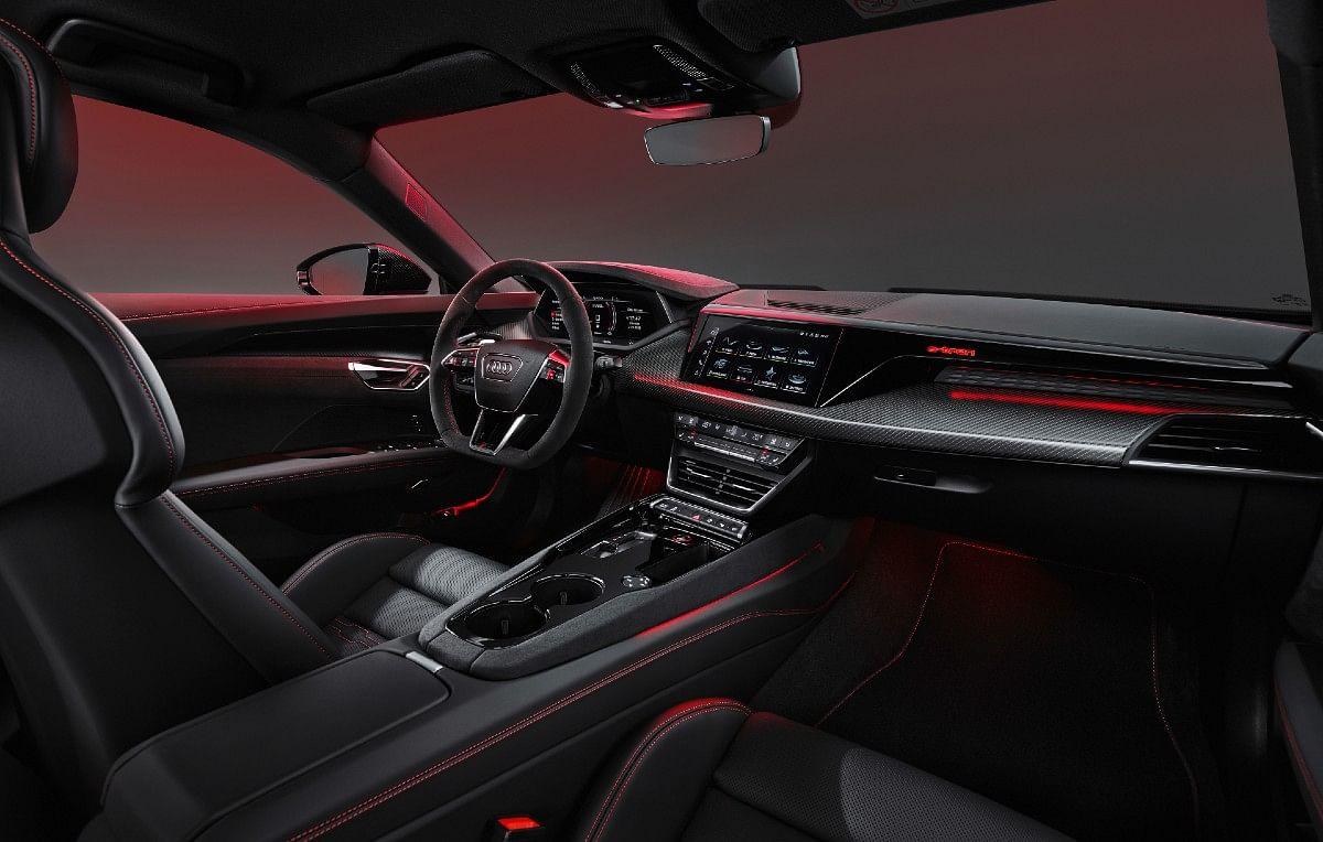 The interior is unique to the e-tron GT