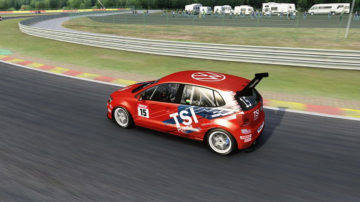 Amith Kutti in action at the first ever Volkswagen Motorsport Virtual Racing Championship