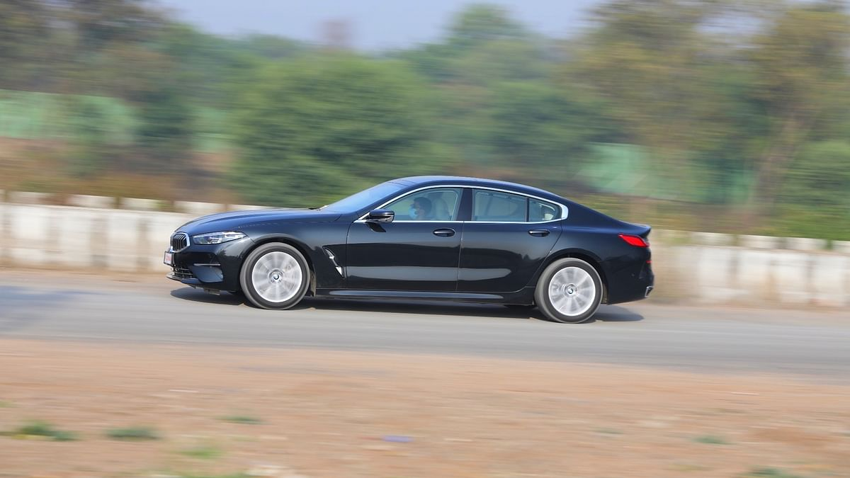 The BMW 8 Series Gran Coupe has a very sleek side profile