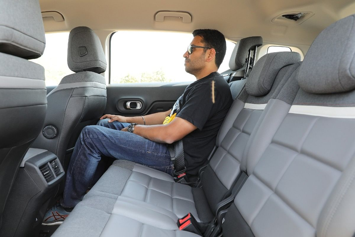 Rear knee room is good enough but not the best in class