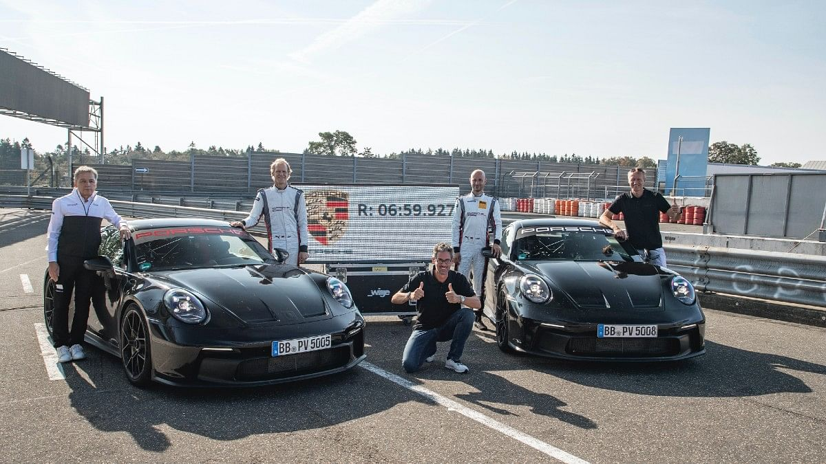 The Porsche 911 GT3 has the Nurburgring lap record at 6:59.927.