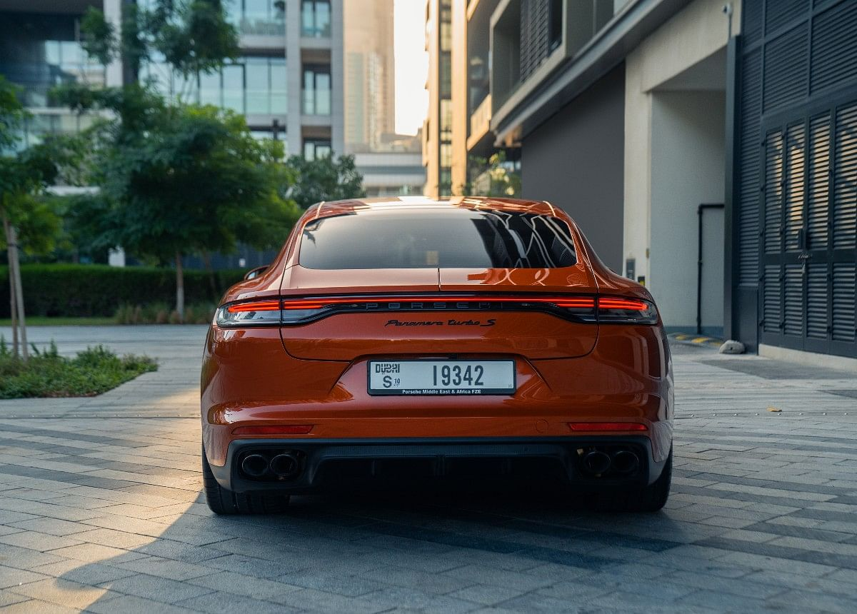 In the rear, the Panamera has an LED taillamp that runs across the width of the car with the Porsche letters integrated into it
