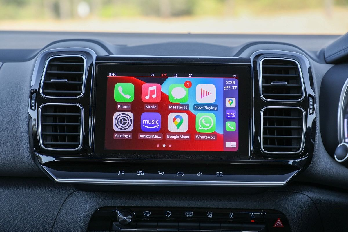 The 8-inch touchscreen infotainment feels small by current standards and it takes some getting used to