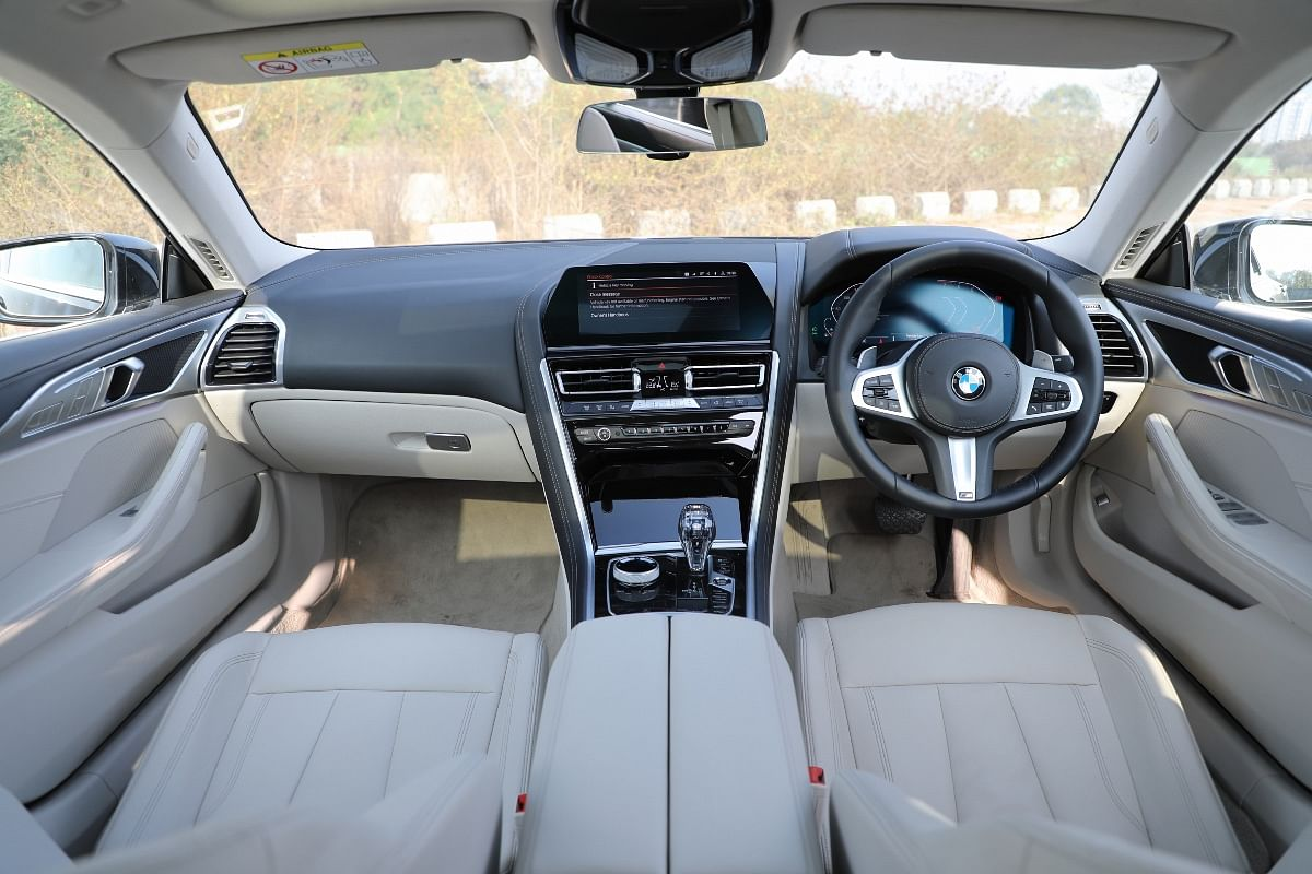 The 8 Series Gran Coupe's cabin is incredibly well built and filled with top quality materials