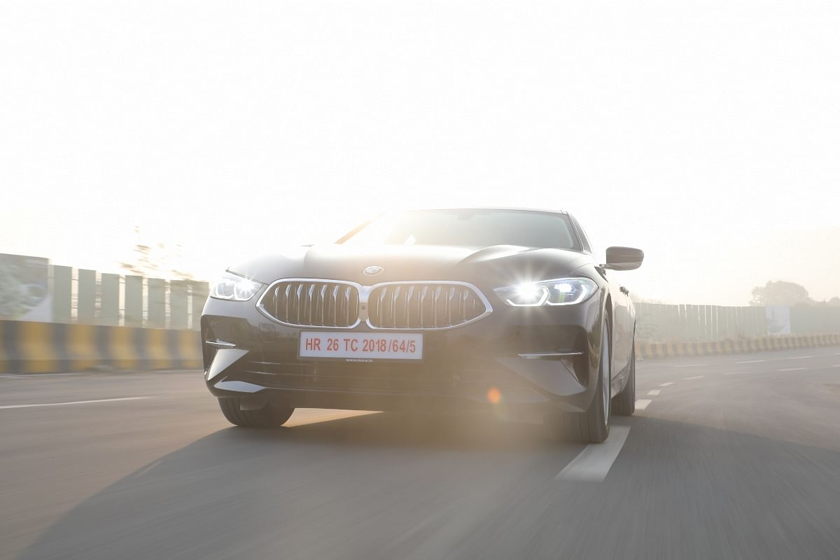 Hexagonal elements in the 8 Series Gran Coupe's headlights are a cool touch