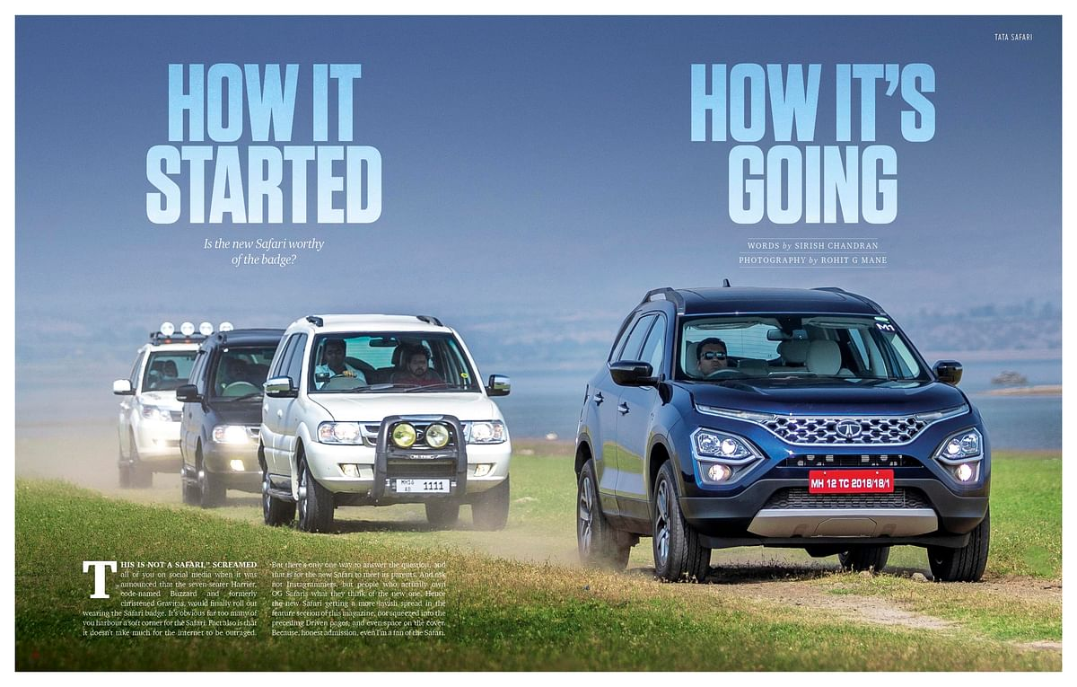 The new Tata Safari meets its parents to find out if it is worthy of the Safari badge