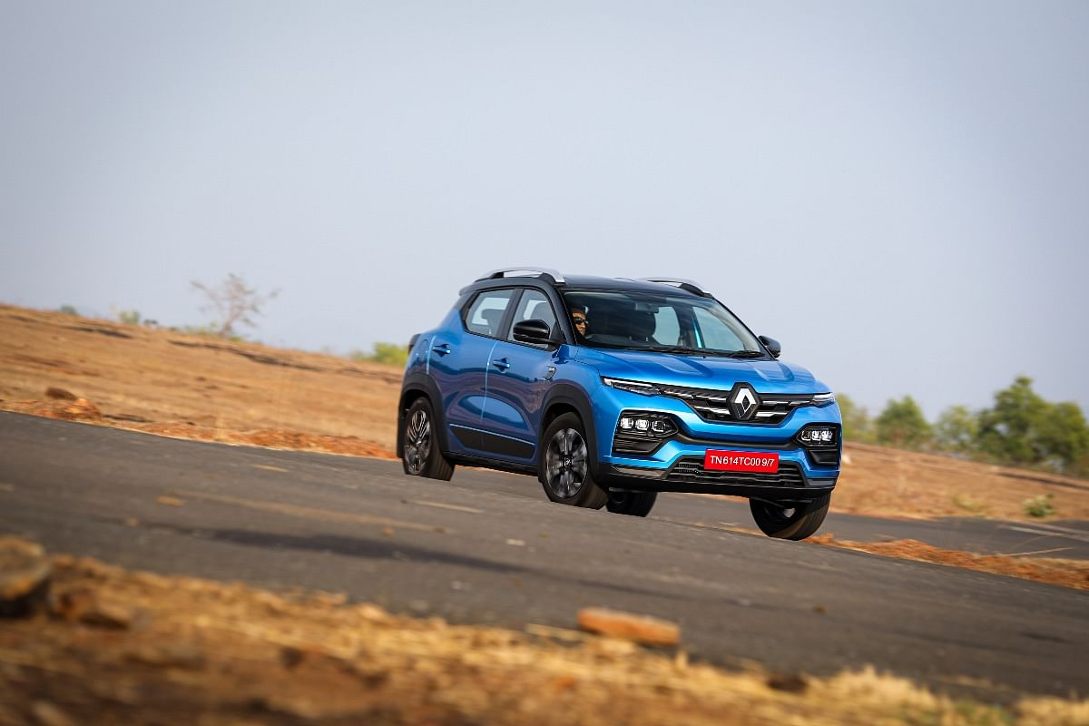 Renault Kiger's soft suspension setup means body roll is significant