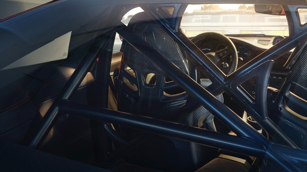 The roll cage is available as an option