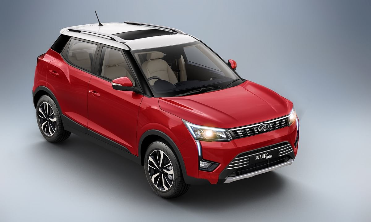The XUV300 also gets two new dual-tone paint schemes