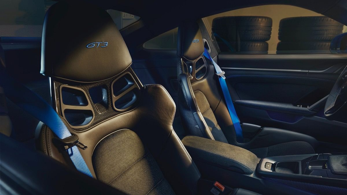 Seats look apt and add to the track focused atmosphere in the cabin