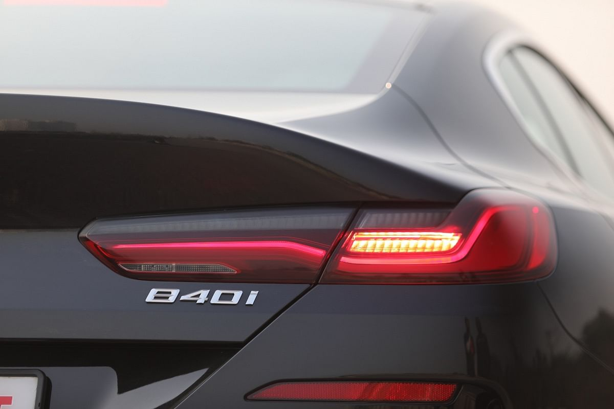 The 8 Series Gran Coupe's taillights flow into the haunches neatly