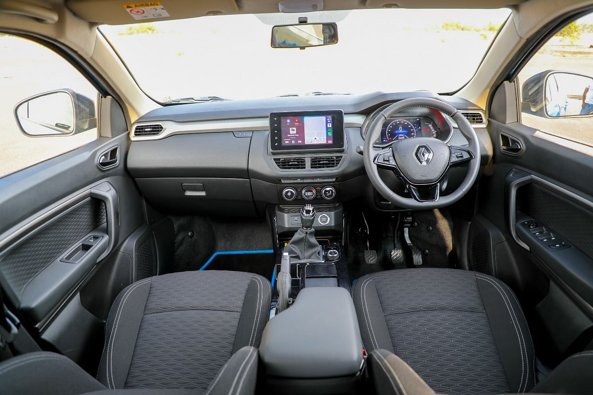 The Renault Kiger's cabin is well laid out and brimmed with features