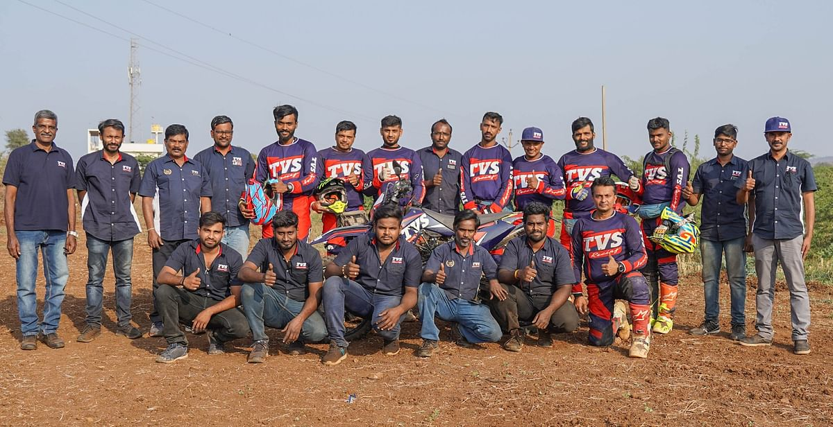 The TVS Racing team was crowned the winner at the 2020 Indian National Rally  Championship