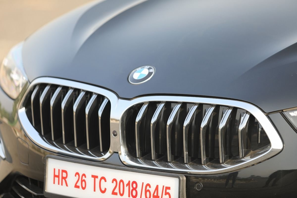 The BMW 8 Series doesn't have an obnoxious grille, thankfully!