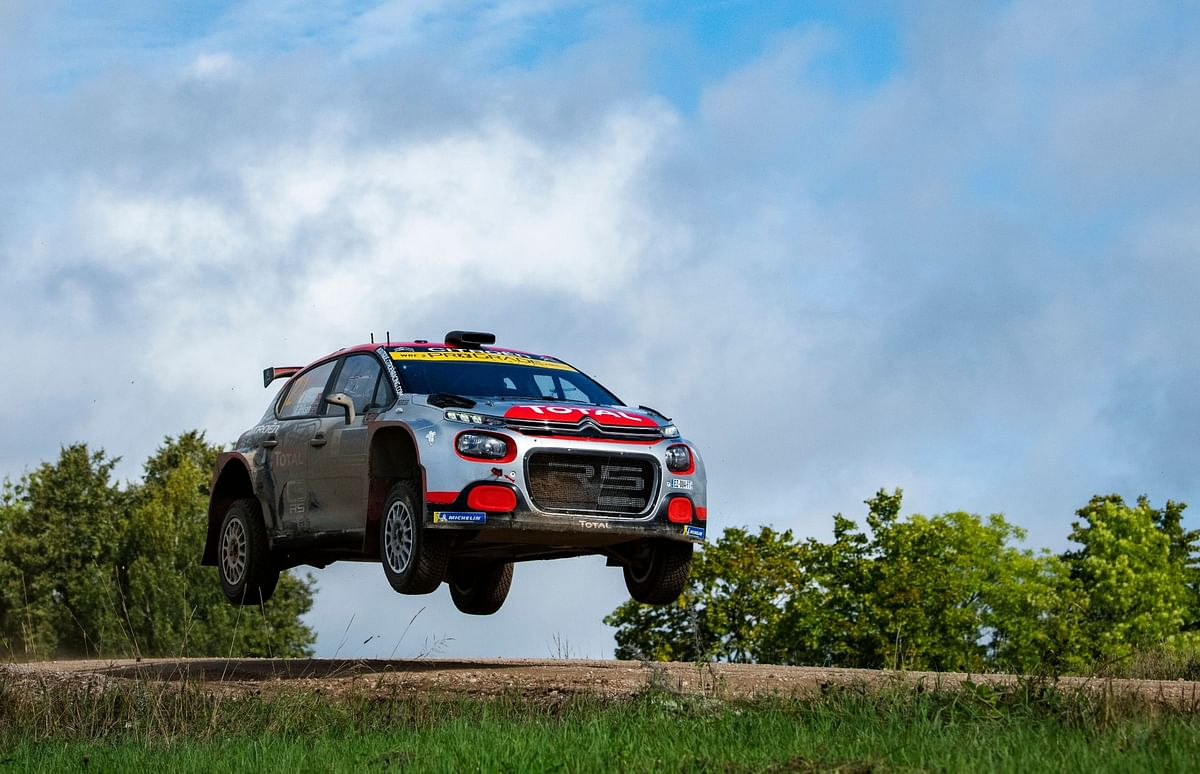 The Citroen C3 R5 in action at the WRC