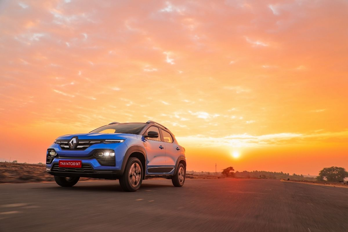 The Renault Kiger's swoopy design does turn heads
