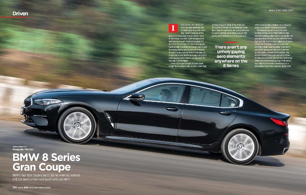 Gorgeous silhouette of the BMW 8 Series Gran Coupe