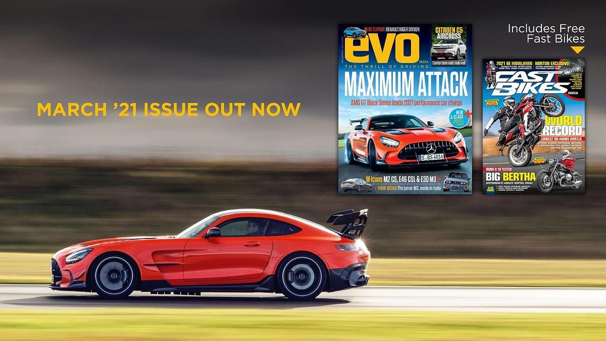 AMG GT Black Series and BMW M special star in the March 2021 issue of evo India