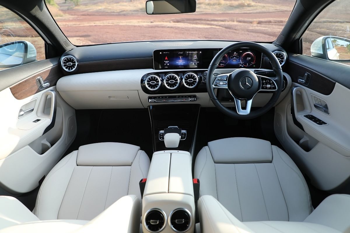 The A-Class Limousine gets the same screen size for the instrument cluster as that of the infotainment system