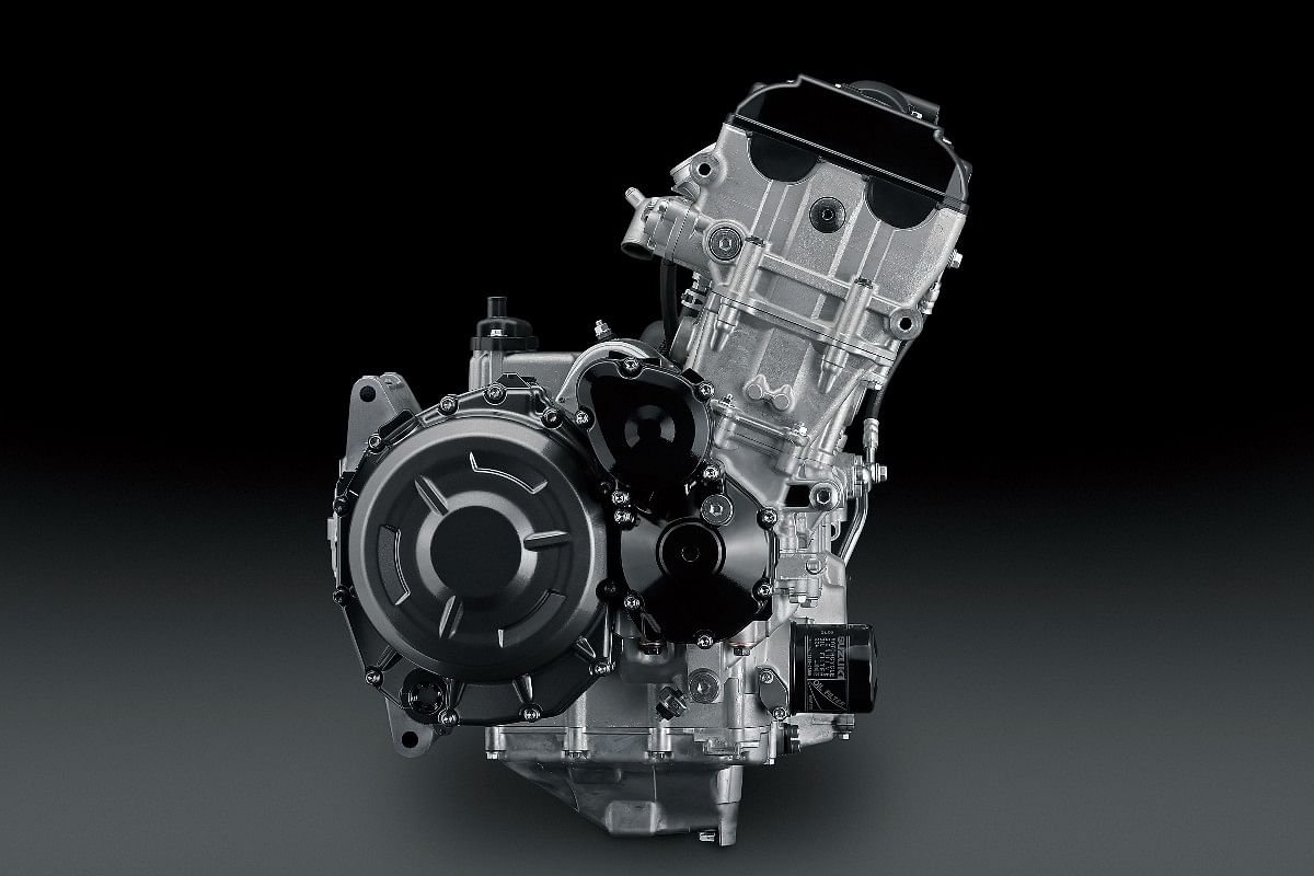 The reworked 1340cc in-line four engine in the Hayabusa has been tuned for better mid-range