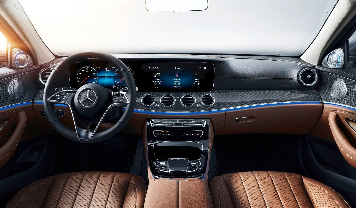 2021 E-Class gets Beige-Tropez Blue interior upholstery on the top-end variant