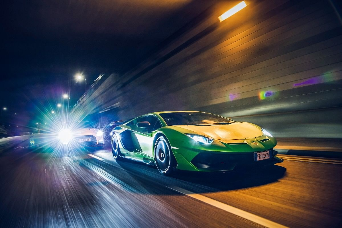 The latest and final of these, the Aventador SVJ you see here, even set an astonishing lap record around the Nürburgring
