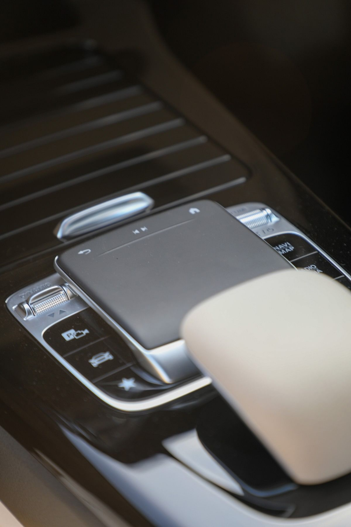 The quality of  the touchpad on the centre console is top notch