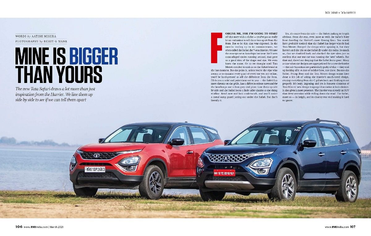 A test to differentiate between the Harrier from the all-new Safari