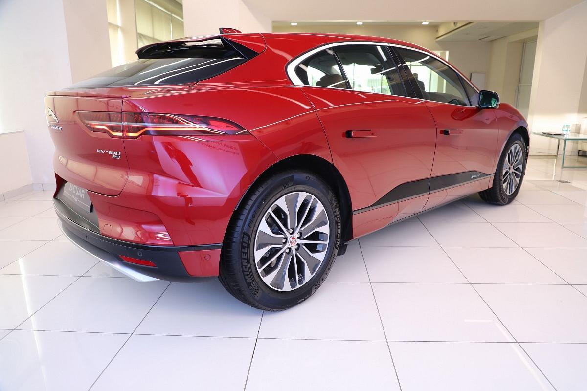 Rear-end of the Jaguar I-Pace is quite unique but its shape helps reduce drag