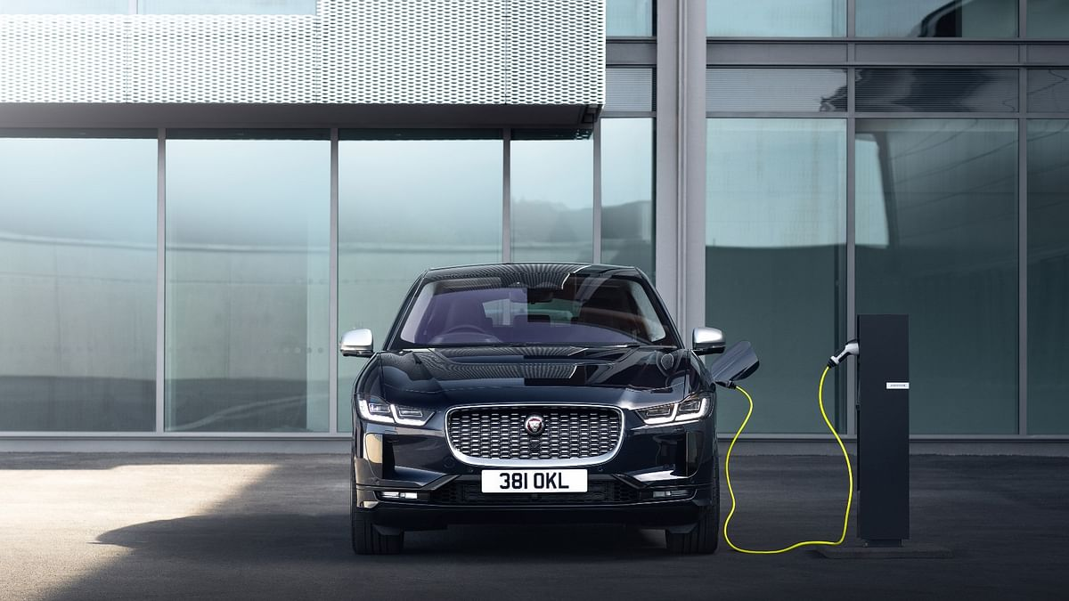 The provided 7.4 kWh charger can fully charge the I-Pace overnight with 40km of range possible within an hour
