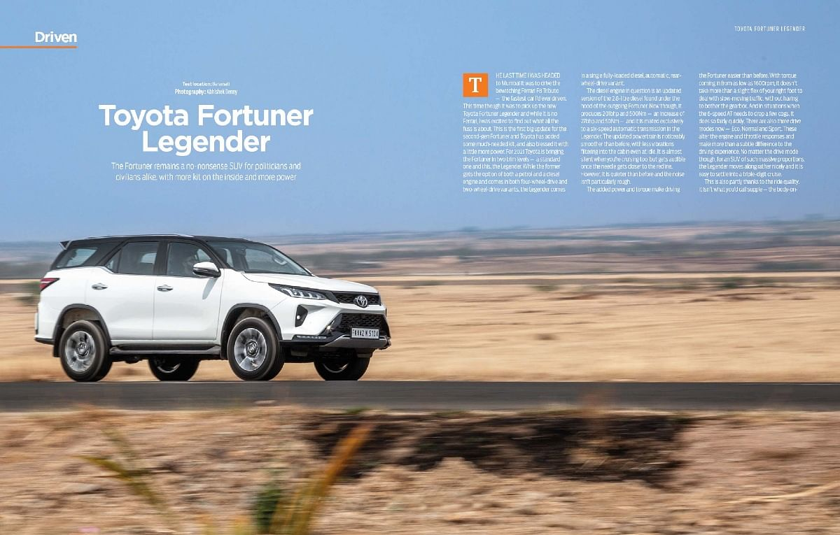 Angrier face and more power on the Toyota Fortuner Legender