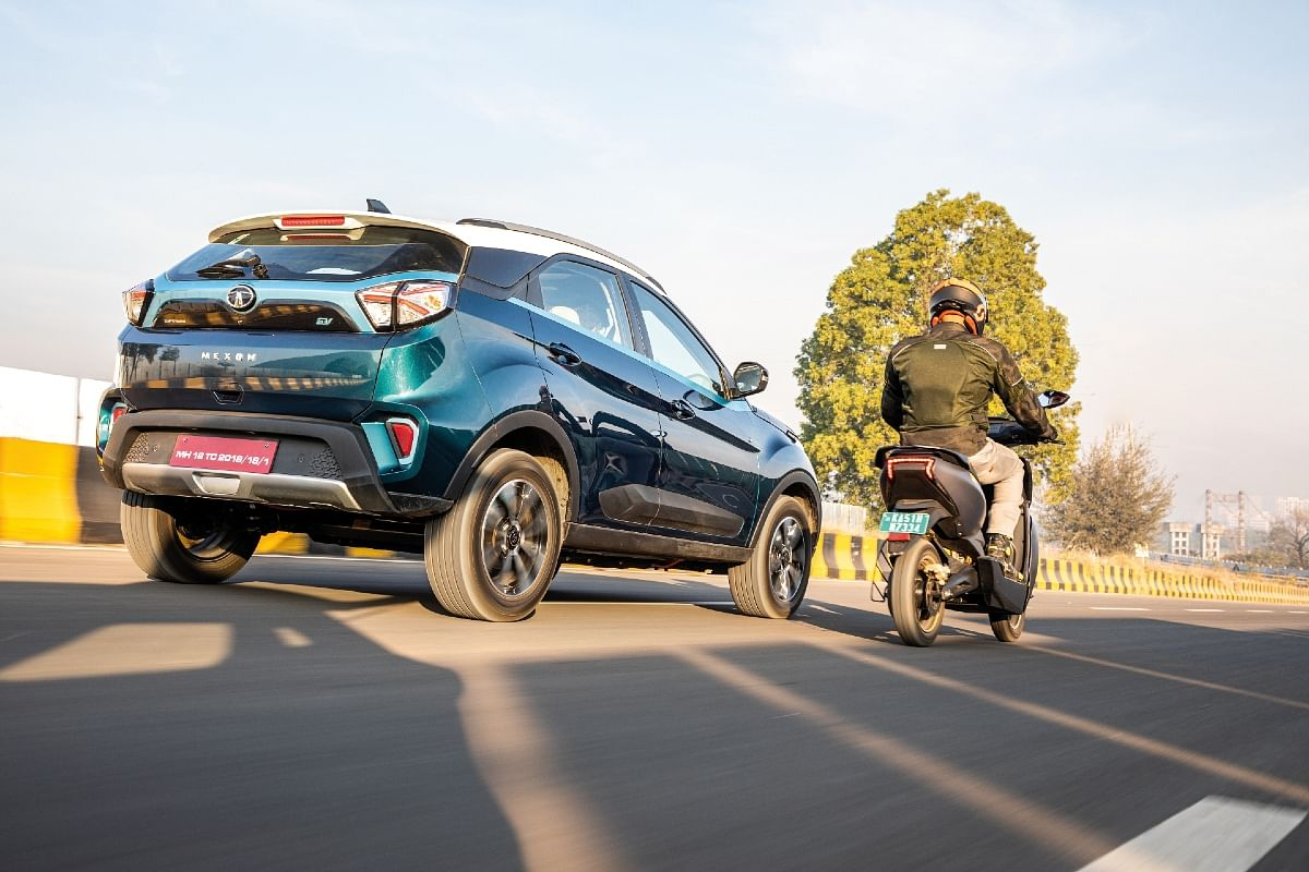 The Nexon EV is more fun to drive over the Nexon petrol, while the Ather 450X provides better value for money