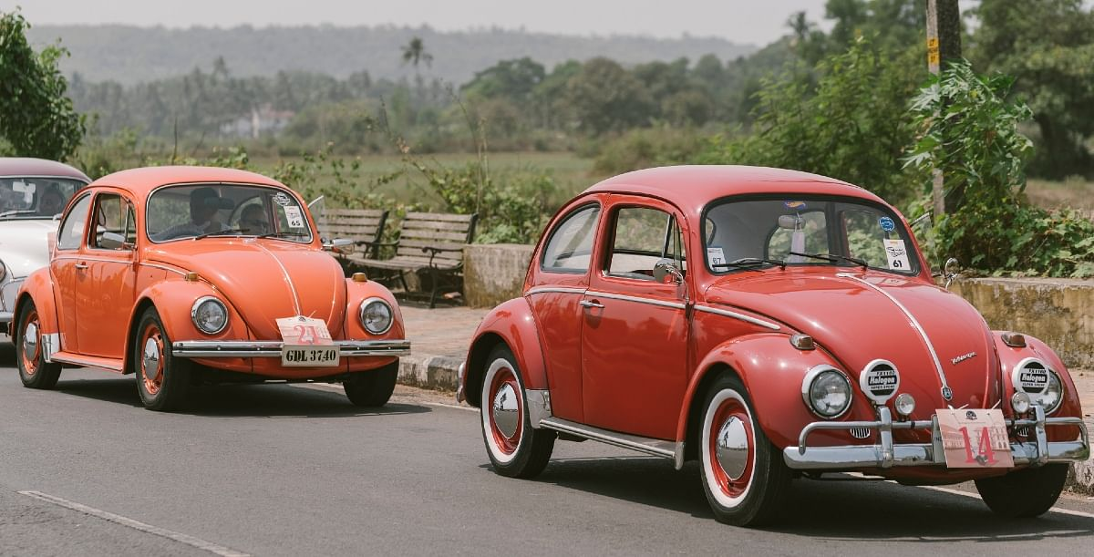 Any vintage rally is incomplete without the OG, the VW Beetle