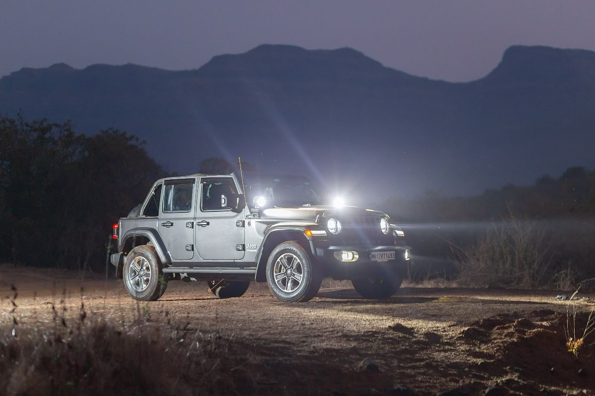 The Jeep Wrangler get optional accessories like spot lights