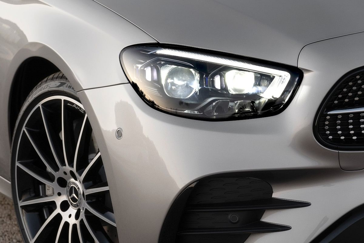The new E-Class gets LED Headlights and single strip DRLs