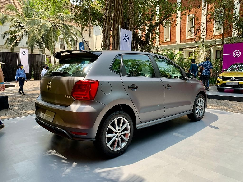 Volkswagen Polo Matte Edition gets a gloss black roof-mounted spoiler, door handles and ORVMs