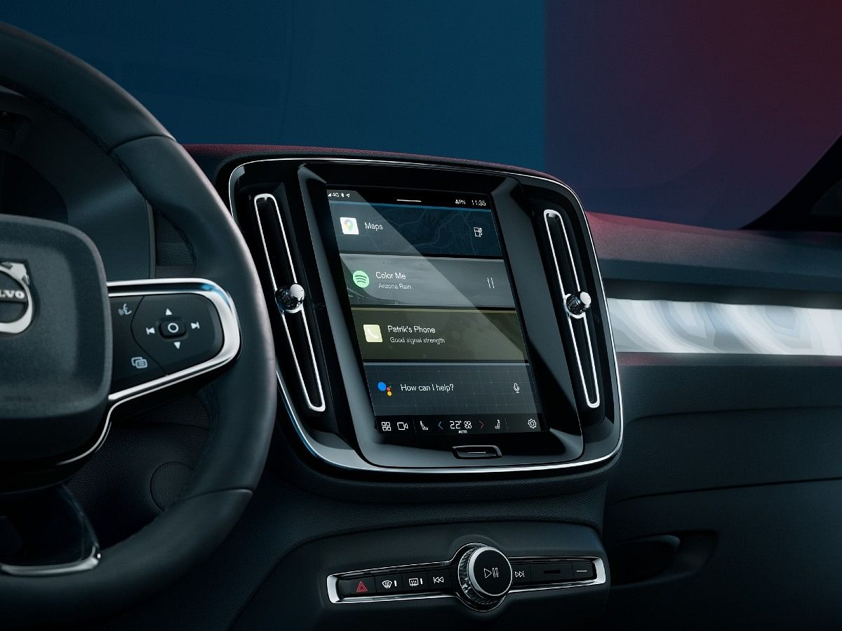 The Volvo C40 gets Volvo's famed portrait style infotainment screen with Android OS