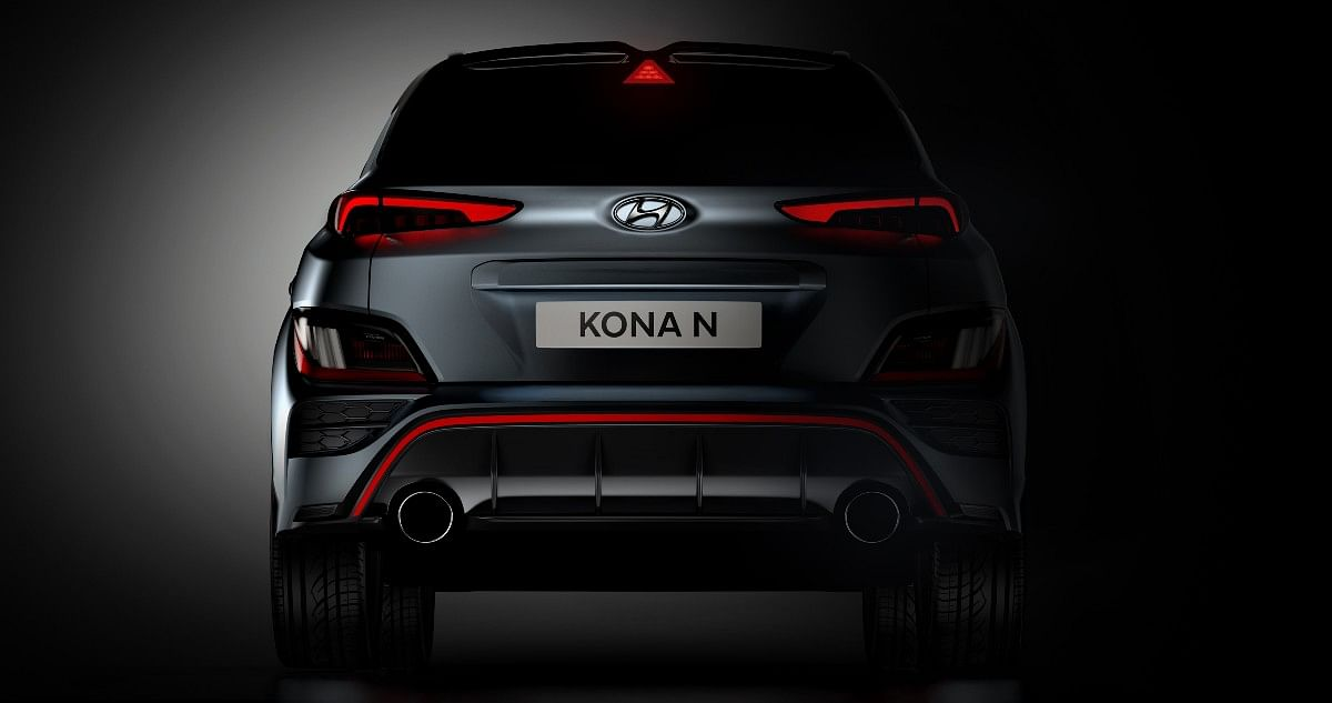 The Kona N will sport dual exhaust tips and a rear diffuser
