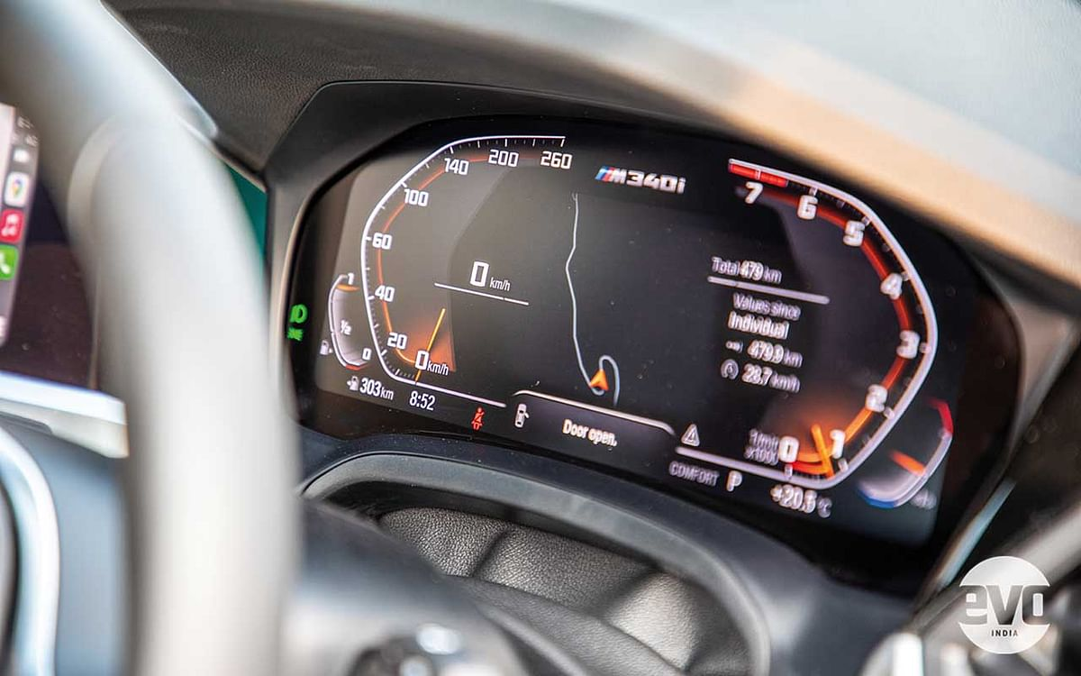 The interiors are identical to the 3 Series' save for the head up display and the M340i lettering on the digital instrument cluster