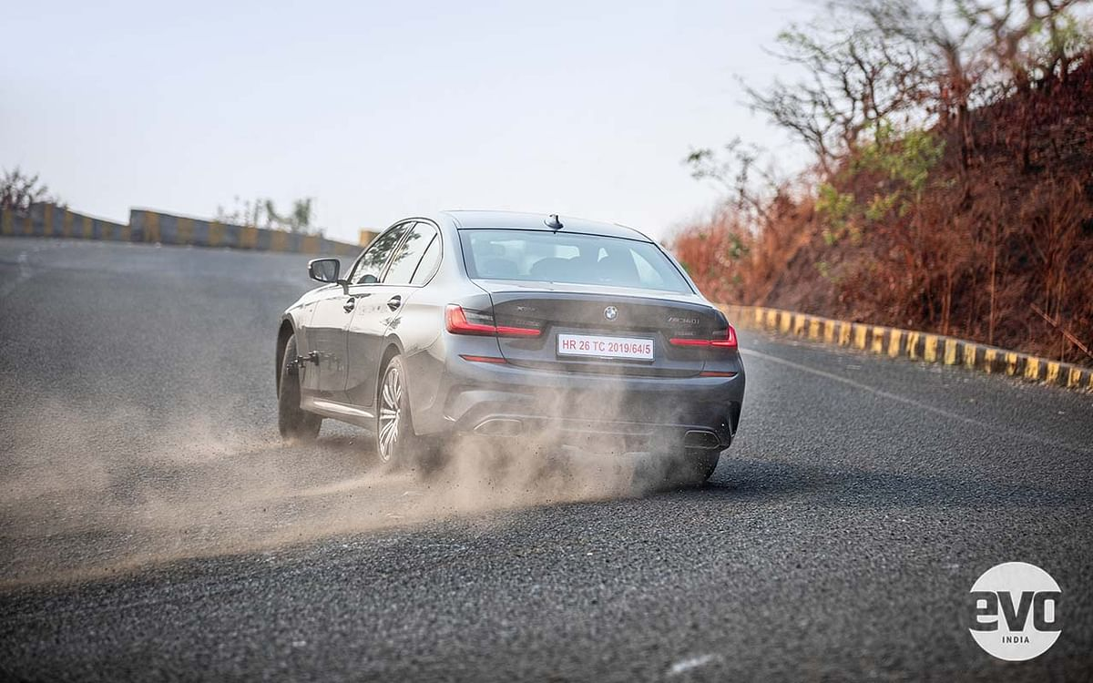 The half-way Sport ESP setting allows a lot of oversteer action!