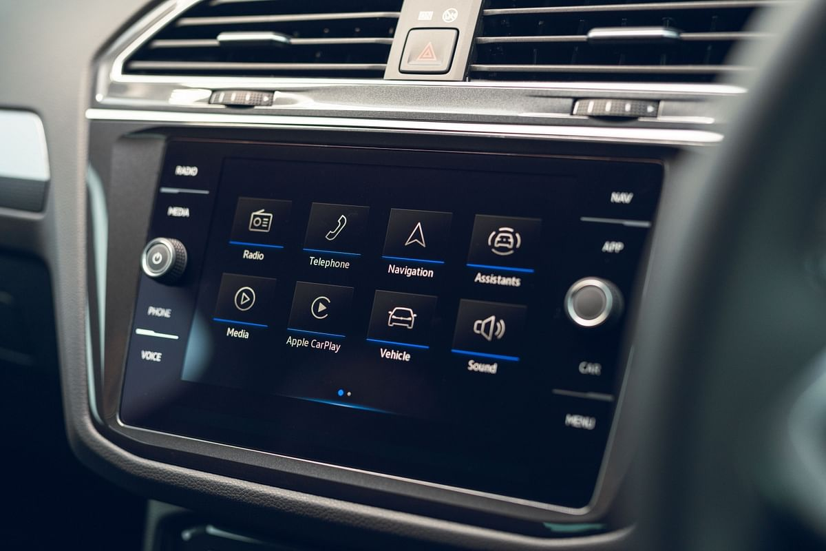 Updated touchscreen infotainment on the 2021 Volkswagen Tiguan