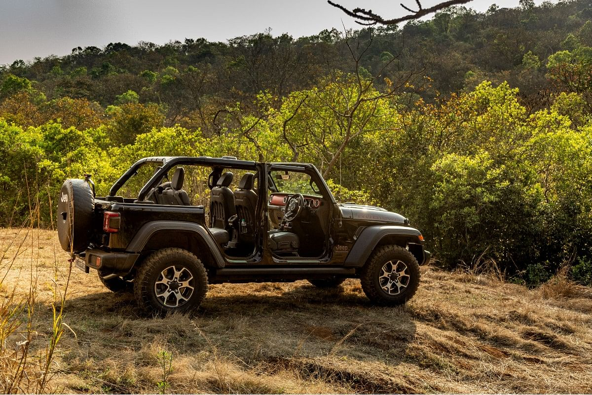 The Jeep Wrangler's party trick is its removable roof and doors