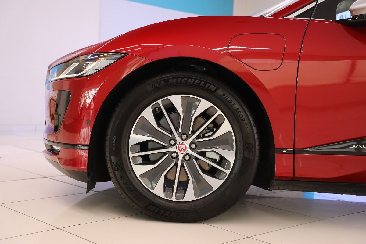 19-inch wheels are standard across the I-Pace range, in different designs