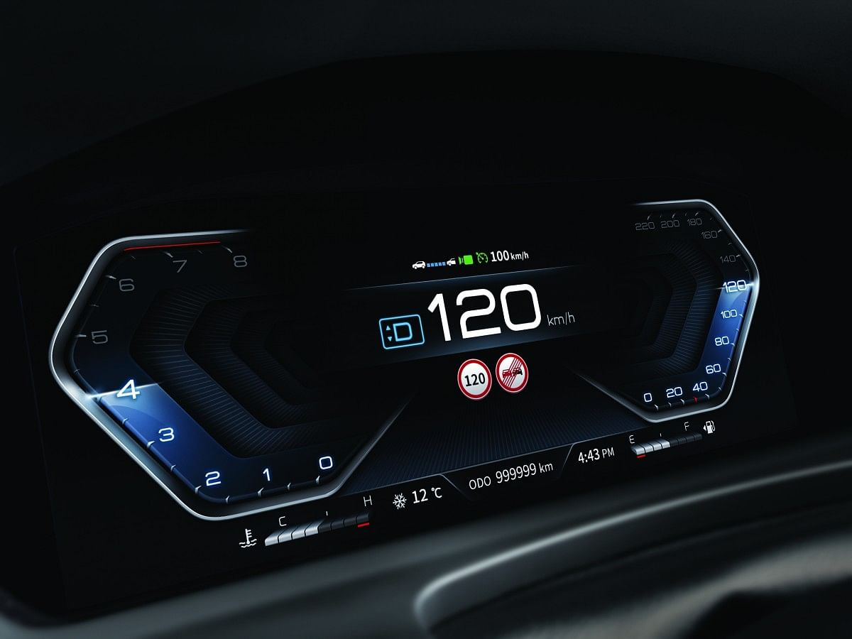 New for 2021 is this 12.3-inch digital instrument cluster