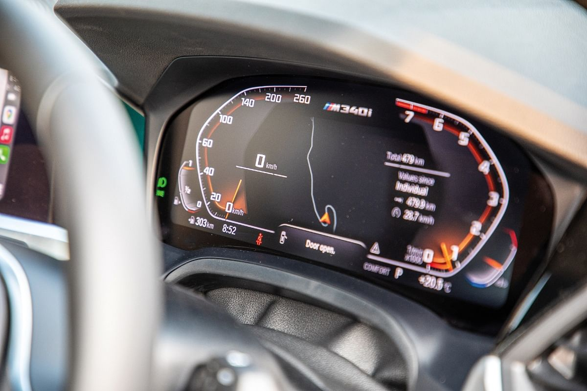 Equipped with a 12.5-inch  digital instrument cluster